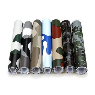 20X152cm Woodland Camo Camouflage Desert Sticker DIY Decals For Motorcycle Automobiles Car Styling Accessories