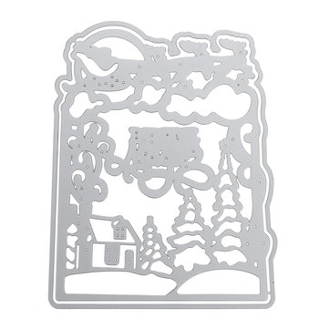 12.5x10cm Christmas Metal Cutting Dies Stencil Embossing Scrapbooking Photo Album Paper Craft