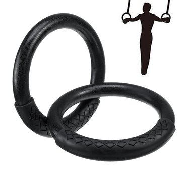 1 Pair 23cm ABS Gymnastic Rings Fitness Gym Household Rings Muscle Strength Training Tools