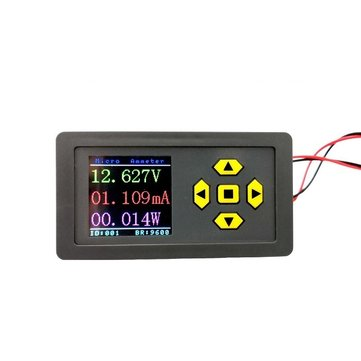 Micro-ampere DC Voltmeter Ammeter High-precision Color Screen Digital Display Support RS485 MODBUS Communication