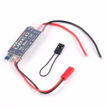 HENGE 8A UBEC RC Brushless ESC 5V/6V/7.4V 6A/8A Max 12A Inport 7V-25.5V 2-6S Lipo/6-16 cell Ni-Mh Input Switch BEC for RC Airplane FPV Racing Drone Plane Aircraft Helicopter Car Boat