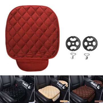 Car Front Seat Cover Auto Seat Cushion Faux Fur Soft Black Pad Mat Universal