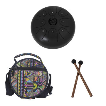 5.5Inch 8Notes Mini Steel Tongue Drum with Bag Outdoor Music Enthusiast Instrument Musical Drum