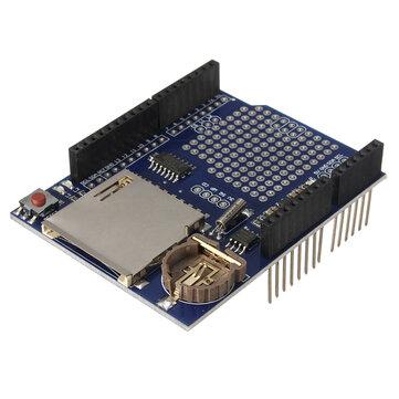 Gravador de registro DataLog Módulo Shield Data Logger para cartão UNO SD Geekcreit para Arduino - produtos que funcionam com placas Arduino oficiais
