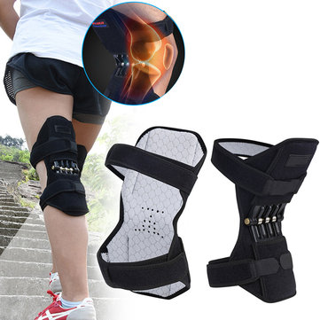 1 Pair Spring Knee Support Patella Booster Adjustable Joint Brace Pad Sports Training Protector
