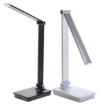 Bakeey 6W lampe de bureau 6000K lumière blanche pliant tactile protection des yeux LED lumière 5w chargeur sans fil de charge rapide pour Apple Watch iPhone X XS