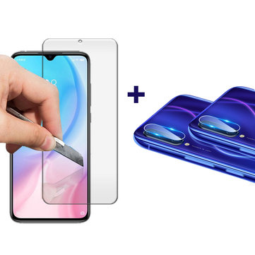 Bakeey Anti-explosion Tempered Glass Screen Protector + 2PCS HD Clear Phone Lens Protector for Xiaomi Mi A3 / Xiaomi Mi CC9e