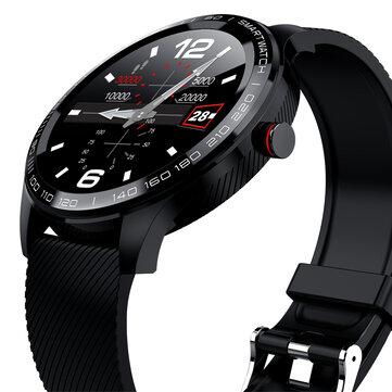 Microwear L9 Full Round لمس شاشة غير القابل للصدأ Steel Bezel ECG قلب معدل O2 IP68 Facebook عرض Business ذكي Watch