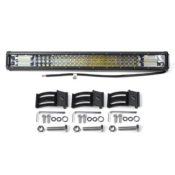 26Inch 360W LED Work Light Bar Spot Flood Combo Beam Off Road Driving SUV Trucks