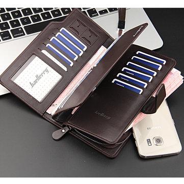 Yeni Moda Retro Rahat Lokomotif Çok fonksiyonlu Fermuar Toka erkek Telefon Cüzdan Çanta 7 Altında Tüm Akıllı Telefon Için 7 inç