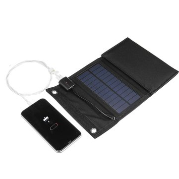 Solar Charger 5V Foldable Waterproof  Solar Power Charger USB Solar Battery Charger With Solar Panel for Traveling Camping Hiking