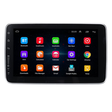 9 Pollici 1 DIN per Android Autoradio schermo audio regolabile MP5 Player 4 Core 1 + 16G / 2 + 32G WI-FI GPS FM