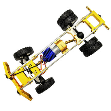 1/16 Upgraded Metal RC Car Chassis Unassembled Kit for Off-Road Truck Vehicles DIY Parts