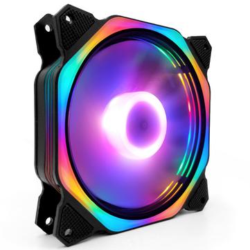 Coolmoon 120mm RGB regolabile luce a led Ventola di raffreddamento CPU Ventola di silenziamento ottagonale PC PC Ventola di raffreddamento