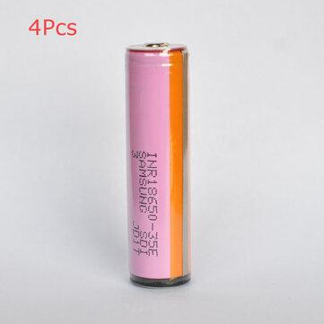 4Pcs SAMSUNG INR18650-35E 18650 Alimentazione Batteria 3500mAh 20A Alta carica ricaricabile Li-ion Batteria (parte superiore protetta) per torcia elettrica E Cig bici elettrica