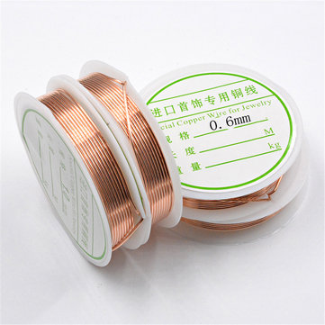 2-1.0mm Craft Beading Wire Red Copper Wire For Bracelet Necklace Jewelry DIY Accessories