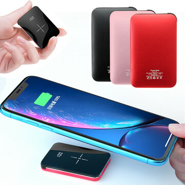 Bakeey 20000mAh Qi Wireless Charger LED Display Mini Power Bank Fast Charging for iPhone Android
