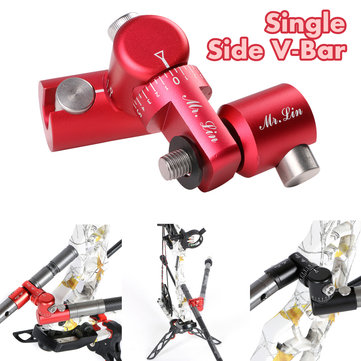 Archery Single Side V-Bar Quick Disconnect Mount Adjustable Bow Rod Stabilizer Bow Stand