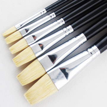 Memory 6 Pcs/set Even number Gouache Painting Brush Oil Paint Brushes Bristle Painting brushes Acrylic painting brushes