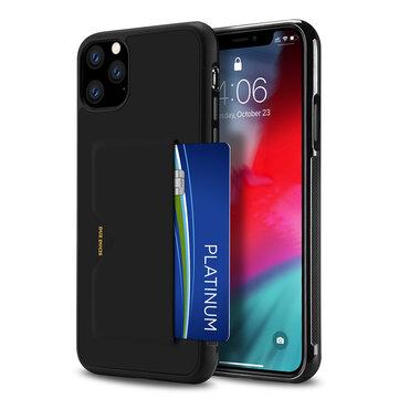 DUX DUCIS com slot para cartão de crédito Couro PU à prova de choque de proteção Caso para iPhone 11 Pro Max 6,5 polegadas
