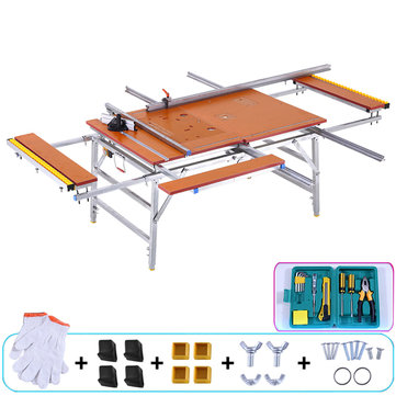 80*120CM Folding Portable Woodenworking Table Multifunctional Inverted Saw Push Table for Small Decoration