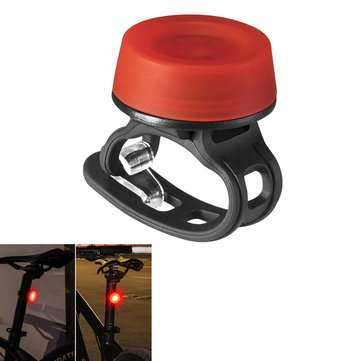 ROCKBROS Silicone Bike Tail Light 3 Modes Waterproof LED Warning Night Light Camping Running