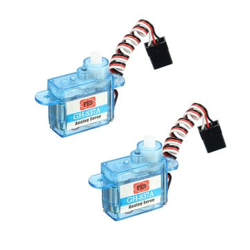 2PCS 3.7g Micro Analog Servo GH-S37A For RC Airplane Helicopter