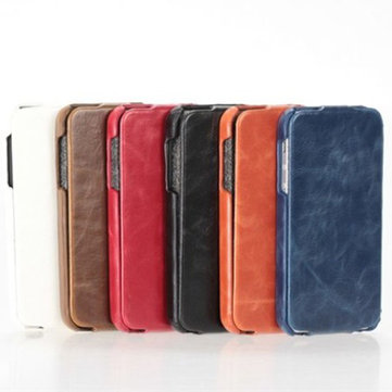 New Up And Down PU Leather Pouch Wallet Case For iPhone 5