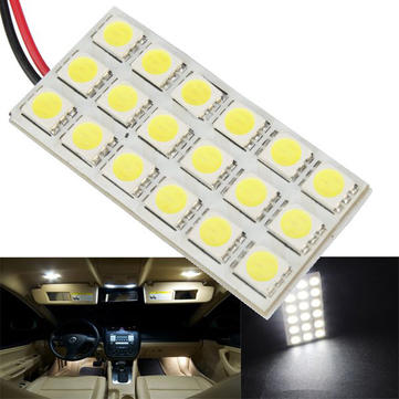 5050 18SMD Car White LED Interior Dome Door Reading Panel Light