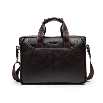 BOSTANTEN Genuine Leather Cowhide Crossbody Messenger Bag Briefcase Business Laptop Handbag